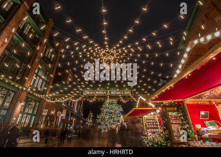 Toronto Christmas Market at the Distillery district, Toronto, Ontario, Canada, North America - Stock Photo