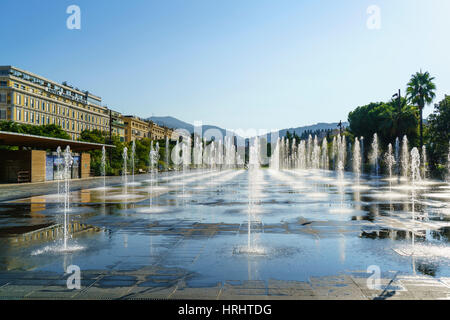 Promenade du Paillon, Nice, Alpes-Maritimes, Cote d'Azur, Provence, French Riviera, France, Mediterranean - Stock Photo