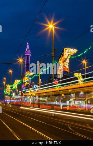 Illuminations, Blackpool, Lancashire, England, United Kingdom - Stock Photo