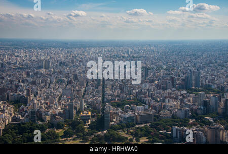Aerial of Buenos Aires, Argentina - Stock Photo