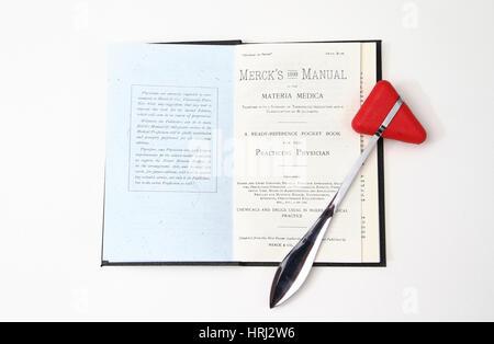 1899 Merck's Manual and Medical Equipment - Stock Photo