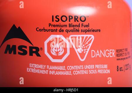 Warning Label - Stock Photo