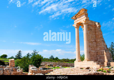Ruins of the Sanctuary of Apollo Hylates - main religious centres of ancient Cyprus and one of the most popular - Stock Photo