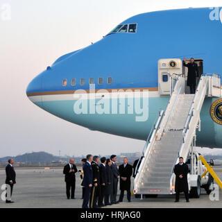 President Obama, Osan Air Base, Korea - Stock Photo