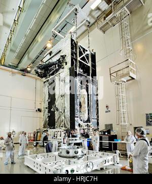 GEO-1 Satellite in Lab - Stock Photo