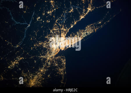 Satellite View of New York City - Stock Photo