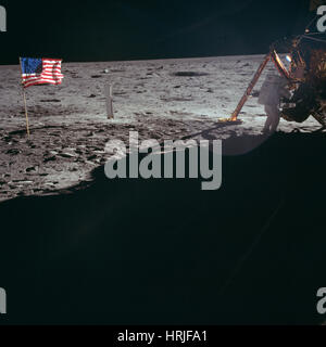 Neil Armstrong, Apollo 11 Astronaut, LM - Stock Photo