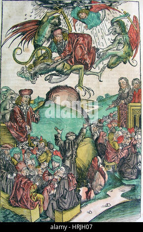 Apocalypse, Nuremberg Chronicle, 1493 - Stock Photo