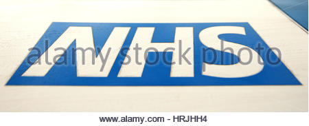 """File photo dated 21/05/16 of an NHS logo, as England's top inspector warned that the NHS """"stands on a burning - Stock Photo"""
