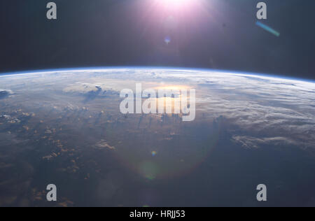 Cumulonimbus, International Space Station - Stock Photo