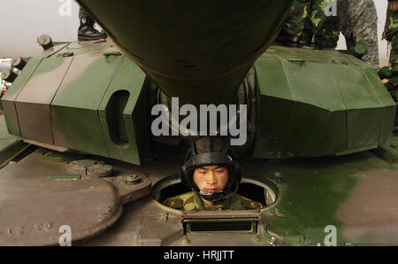 Chinese Tanker Soldier, 2007 - Stock Photo