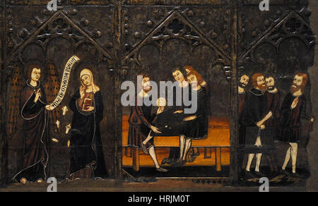Master of Vallbona de les Monges (Guillem Seguer?), 14th century. Altar frontal of the Corpus Christi, ca. 1335 - Stock Photo