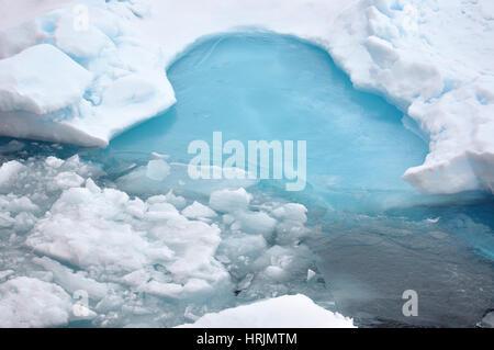 Blue Ice, USCG Arctic Expedition, 2009 - Stock Photo