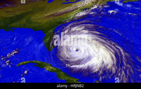 Hurricane Floyd, GOES Image, 1999 - Stock Photo