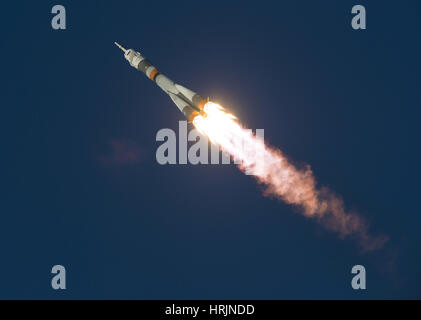 Expedition 46 Soyuz Launch to the ISS - Stock Photo