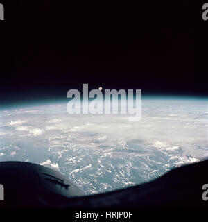Moon from Gemini 7, 1965 - Stock Photo