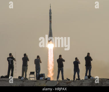 Soyuz Launch to International Space Station - Stock Photo
