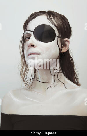 Woman with fair skin and brown hair - Stock Photo
