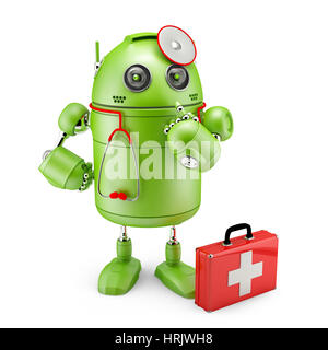 Medic Robot. Technology concept. Isolated. - Stock Photo