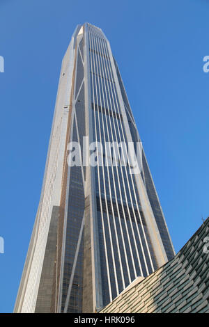 Ping An International Finance Centre (world's 4th tallest building in 2017 at 600m), Futian, Shenzhen, Guangdong, - Stock Photo