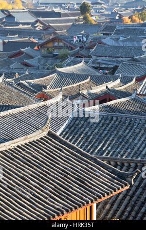 View of Lijiang (UNESCO World Heritage Site), Yunnan, China - Stock Photo