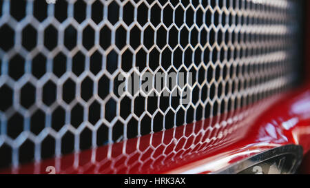 Close up of a car grill making a nice textured pattern - Stock Photo