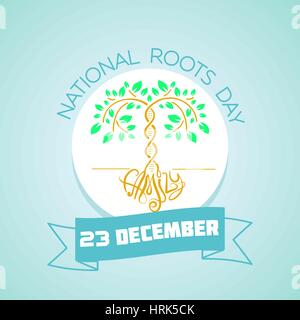 Calendar for each day on December 23. Greeting card. Holiday - National Roots Day. Icon in the linear style - Stock Photo