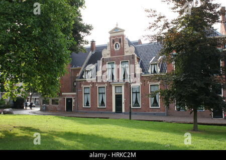 Historic mansion on Martinikerhof square, central Groningen, The Netherlands in summer - Stock Photo