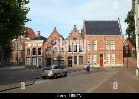 Martinikerhof,one of the oldest squares in the old medieval center of Groningen, The Netherlands - Stock Photo