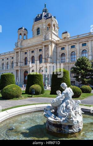Kunsthistorisches Museum (Museum of Fine Arts), Maria-Theresien-Platz, Vienna, Austria - Stock Photo