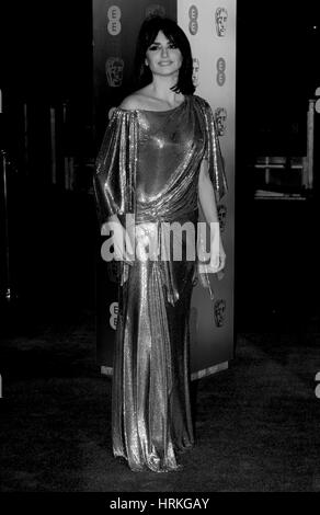 Penelope Cruz ( Image digitally altered to monochrome ) attends The EE British Academy Film Awards (BAFTA) at the - Stock Photo