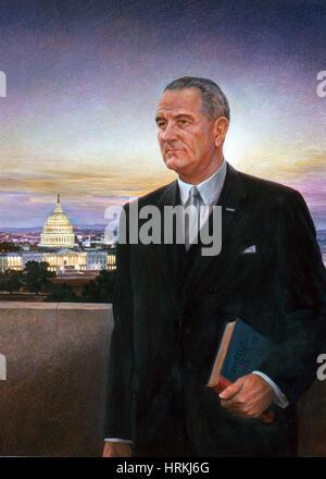 Lyndon B. Johnson, 36th U.S. President - Stock Photo