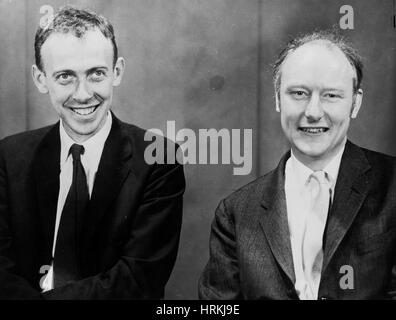 James Watson and Francis Crick - Stock Photo