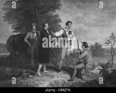 Capture of Major John Andre, 1780 - Stock Photo