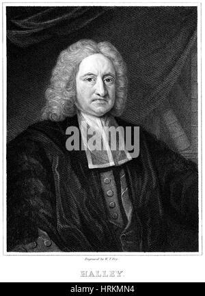 Edmond Halley, English Polymath - Stock Photo