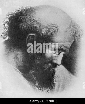Pythagoras, Ancient Greek Philosopher - Stock Photo