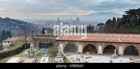 A hilltop view of Florence, Italy. - Stock Photo