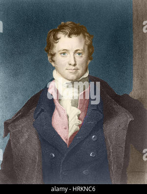 Humphry Davy, English Chemist and Inventor - Stock Photo