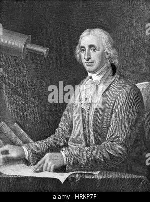 David Rittenhouse, American Astronomer - Stock Photo