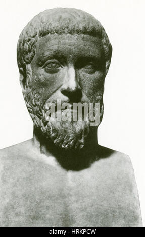 Pythagoras, Greek Mathematician and Philosopher - Stock Photo