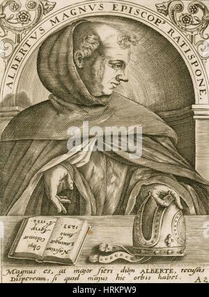 Albertus Magnus, Medieval Philosopher - Stock Photo