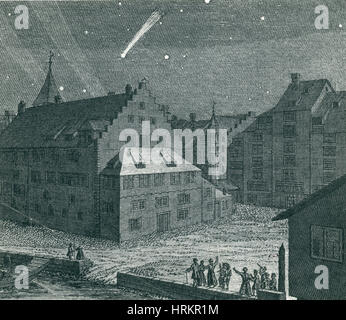 Comet, Einsiedeln Monastery, 1742 - Stock Photo