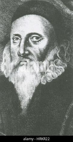 John Dee, English Alchemist and Mathematician - Stock Photo