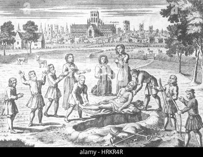Great Plague of London, 1665 - Stock Photo