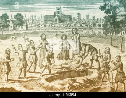 Great Plague of London, 1665 - Stock Photo