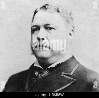 Chester A. Arthur, 21st U.S. President - Stock Photo