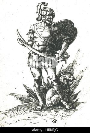 Mars, Roman God of War - Stock Photo