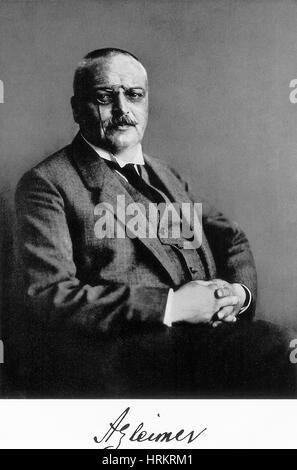 Alois Alzheimer, German Neuropathologist - Stock Photo