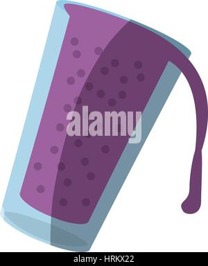 smoothie berry glass cup shadow - Stock Photo