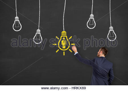 Recruitment Idea Concepts Drawing on Chalkboard - Stock Photo